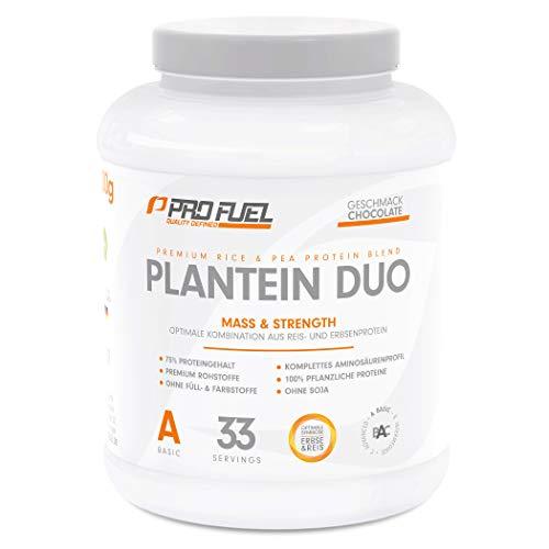 PLANTEIN DUO   Premium Protein-Mix auf pflanzlicher Basis   100% Vegan & High Protein   Cremig & Lecker   Made in Germany   1kg - CHOCOLATE (Schokolade)