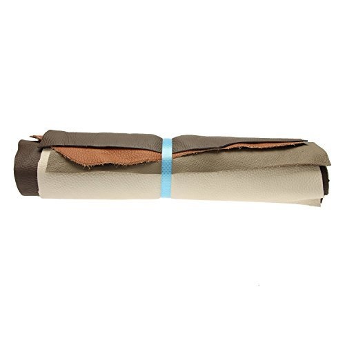 Langlauf Leather Hide 1 kg -shades of brown assorted- Scraps A3 size - Offcuts Craft Pieces, Ideal For Any Craft Work e.g. Repair Bags, Furniture. 100% Genuine Leather! by Schuhbedarf