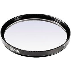 Hama Filtre UV (anti-UV et protection, compensation 2X, traitement antireflet, pour objectifs d'appareils photo 77 mm, O-Haze, traité) Noir