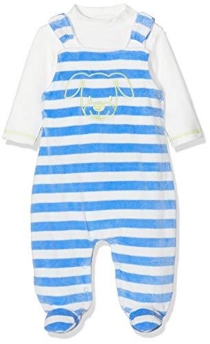 Schnizler Unisex Baby Set Nicki Ringel Hund Strampler, Blau (Blau 7), (Herstellergröße: 56)
