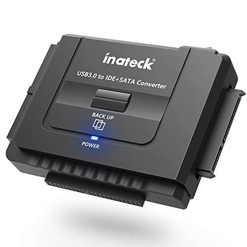 USB 3.0 Combo Docking station Universalkonverter mit Netzschalter -2,5'' und 3,5''SATA HDD & IDE HDD-Laufwerke Konverter/ Adapter, auch unterstützt CD/DVD Laufwerke; Kompatible Windows XP/Vista/7/8/10; Mac OS 10.X ()