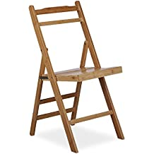 Relaxdays Chaise Pliante En Bambou De Jardin Bois Pliable Salon