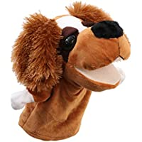STOBOK Bebé Animal Marioneta de Mano Perro Historia Contando Marioneta Guante Marioneta Juego de rol Juguete Educativo Muñecos de Peluche (Orejas peludas Perros)