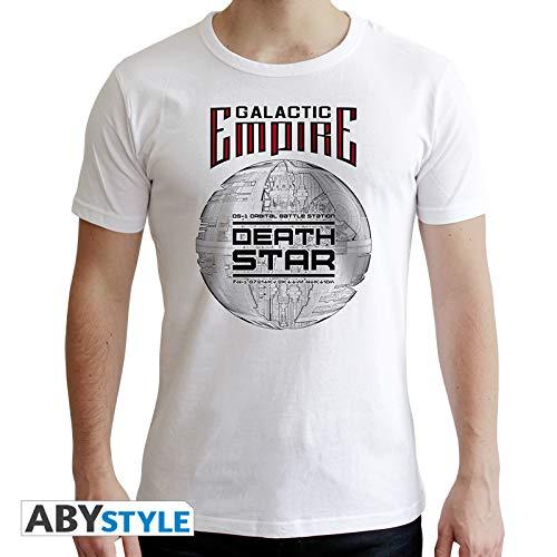 ABYstyle abystyleabytex398-s Star Wars Death Star Short Sleeve Herren Neue Fit T-Shirt (Small) (Kostüm Death Star)