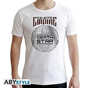 ABYstyle abystyleabytex398-m Star Wars Estrella de la Muerte de Manga Corta Hombres Nuevo Fit Camiseta (Medio)
