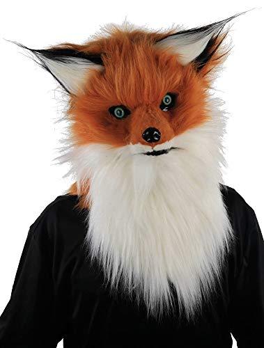 Fancy Me Kostüm für Herren und Damen, Fuchs, Kunstfell, mit beweglichem Kiefer, Tierkostüm