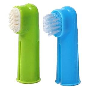 Massage Brosse - SODIAL(R)Set Brosse a dents Oral + Massage Brosse en Doigt Toilettage Dentifrice pour Chien Chiot