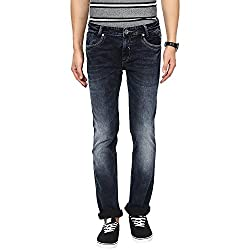 Mufti Mens Black Low Rise Straight Fit Jeans (46)