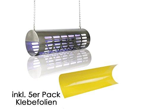 VELL Homme Destructeur d'insectes, piège à insectes avec 5 Oracal Kit pour 100 m², 2 x 15 W Lampe UV, gik13