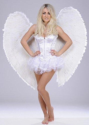 Extra große weiße himmlische Engel Feder Flügel (Extra Große Kostüm Engel Flügel)