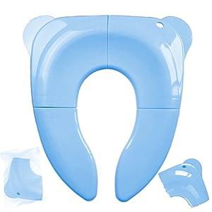 Tapa WC Plegable para Niños con Bolsa de Almacenamiento, Canwn Asiento de Inodoro Portátil Reductor WC para Viajes…