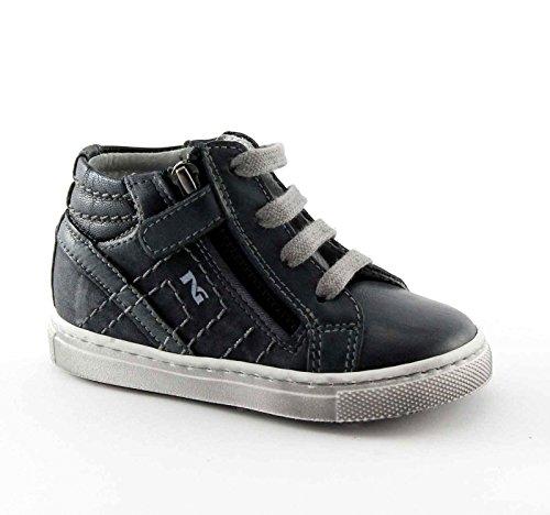 Nero Giardini Black Jardins Junior 24000 Chaussures de Bébé Bleu Mi Zip Lacets Baskets