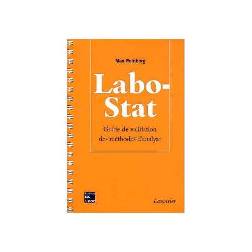 Labo-Stat : Guide de validation des méthodes d'analyse de Max Feinberg ( 24 juillet 2009 )
