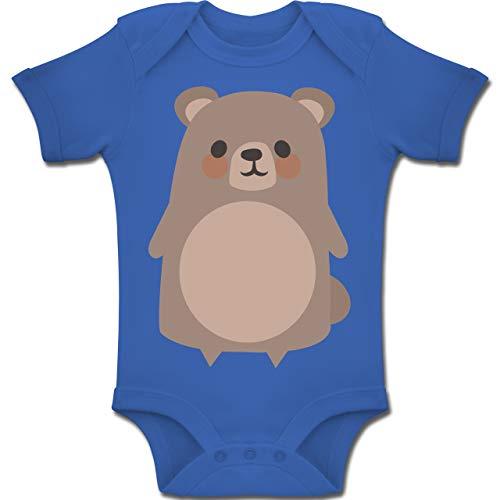 Shirtracer Karneval und Fasching Baby - Teddy Fasching Kostüm - 6-12 Monate - Royalblau - BZ10 - Baby Body Kurzarm Jungen Mädchen (Teddy Bear Kleinkind Kostüm)