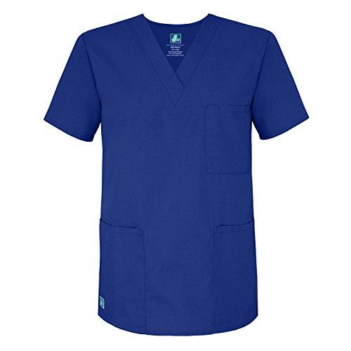 Adar Universal Unisex V-Neck Tunic Top 3 Pockets - 601 - Royal Blue - M (V-neck Royal)