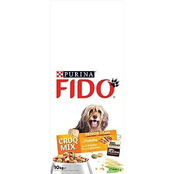 Fido Senior : aux Viandes, aux Céréales, aux Légumes - 10 KG -  Croquettes pour Chien sénior