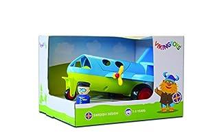 Viking Toys 701270 Divertidos Colores Jumbo Avión con 2 Figuras