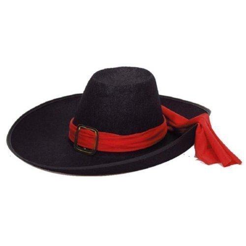 Musketierhut in schwarz (Historische Kostüm Hüte)