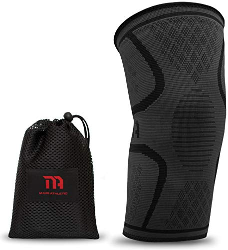 MAVE ATHLETIC Kniebandage | Die Innovative Kompressions-Bandage für Sportler | Weniger Schmerzen Dank besserer Durchblutung (Einzeln, M)