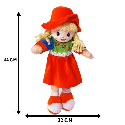 REMI International Soft Toys for Kids with Cap Orange