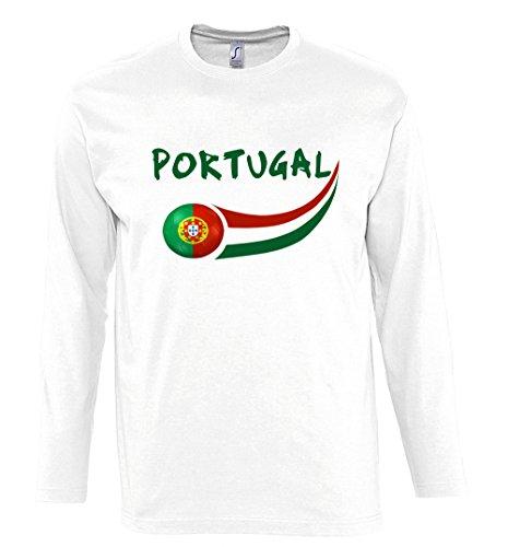 Supportershop-Camiseta Hombre L/S Color Blanco