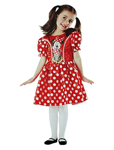 com-four Minnie Mouse in Rot Kinder-Kostüm Set für Fasching, Karneval, Halloween (Minnie Mouse Kostüm Gr. S (6-8 Jahre)) (Fantasia Mickey Mouse Kostüm)
