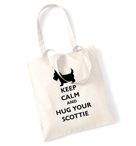 Keep calm and hug il scottie-Borsa natur