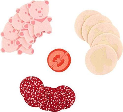 HABA 304202 Wurstscheiben für Kaufladen, Kinderspielzeug, 3Wurstsorten in Einer Packung, Mehrfarbig, Polyester