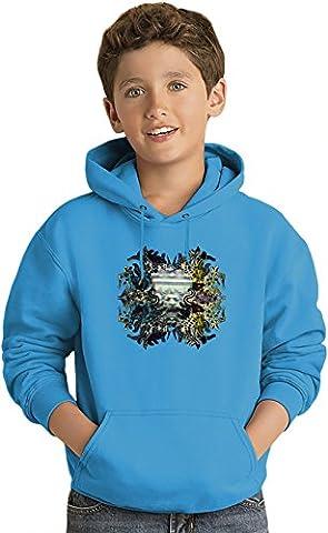 Artistic Lion Kids Sweat-shirt à capuche léger Lightweight Hoodie For Kids   80% Cotton-20%Polyester  12-13 yrs