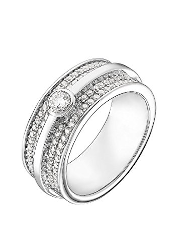 JETTE Silver Damen-Damenring Silber 97 Zirkonia 61 Silber 32004955