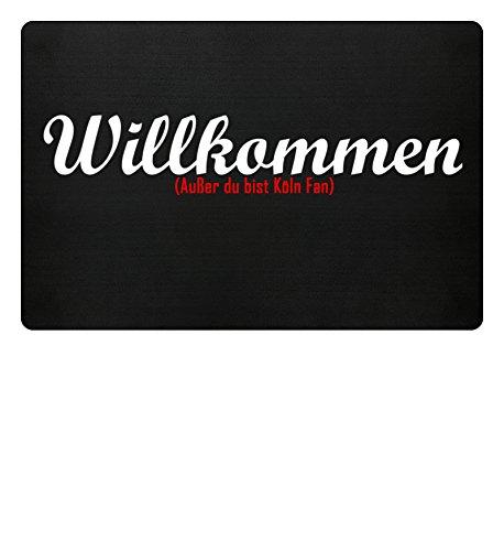PlimPlom Fußmatte Anti Köln in schwarz – Lustige Fußball Schmutzfangmatte mit Statement aus Polypropylen mit Rutschfester Unterseite