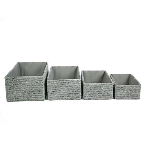 Preisvergleich Produktbild Aufbewahrungsboxen Biologisch aus Papier Pappe Körbe Umweltfreundlich für Accessoires Schminke 4er Set