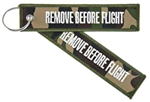 "Porte Clés - "" Remove Before Flight "" - *** EDITION - Camouflage ***"