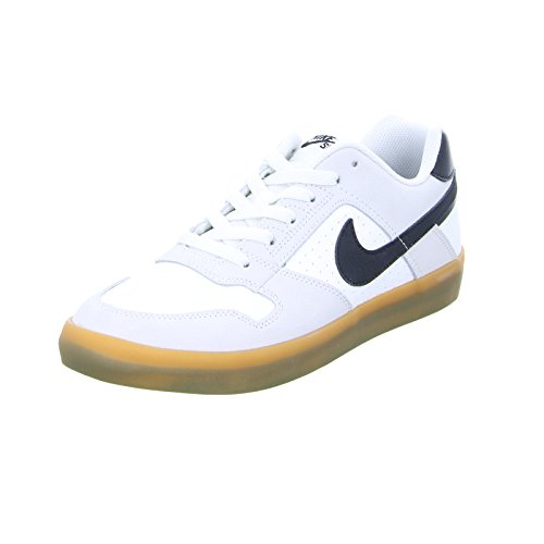 Nike Herren SB Delta Force VULC Skateboardschuhe, Grau (Summit White/Black/Gum Light B 101), 44 EU