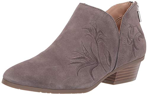 Kenneth Cole REACTION Damen Side Gig Tonal Embroidered Ankle Bootie Stiefelette, grau, 39 EU Kenneth Cole Reaction Step