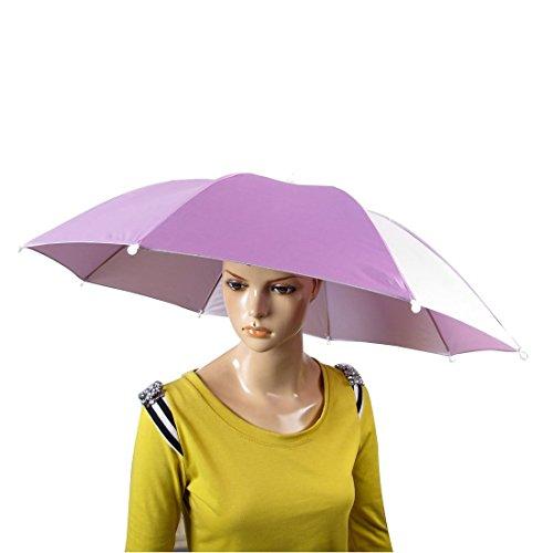 Angeln Regen Sonne Elastikband Regenschirm 28 Zoll Dia-Hut-Rosa