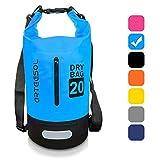 ARTEESOL Dry Bag - 5L/10L /20L /30L Wasserdichte Packsack/Trockentasche, Verstellbarer Schultergurt Inklusive, Geeignet für Kajak-, Boot-,Kanufahren/Angeln/ Rafting/Schwimmen(Himmelblau, 30L)