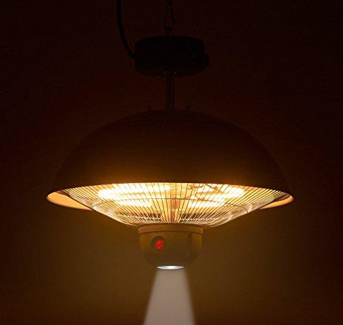 Semptec Quarz-Heizstrahler: Infrarot-Decken-Heizstrahler m. Fernbed, 800-2.000 Watt, LED, IPX4 (Infrarot-Außen-Heizstrahler) - 9