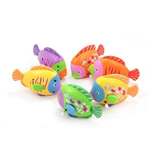 Kleinkindspielzeug Longra 1pcs Kette auf dem Diskus Schwanz Fisch bewegte Kinder nehmen ein Bad Spielzeug (Baby Tintenfisch Kostüm)