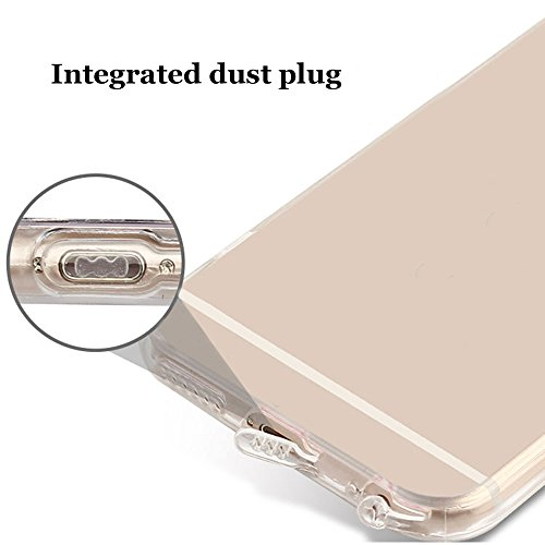 iPhone 6 Plus Case (5.5 pollice), Bonice iPhone 6S Plus Cover,Bonice Colorato Ultra Thin Morbido TPU Silicone Rubber Clear Trasparente Back Creativo Case –pulcino 02 model 8