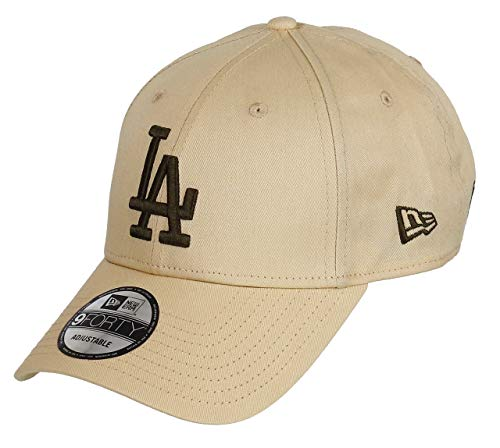 New Era Los Angeles Dodgers New Era 9forty Adjustable Cap League Essential Wheat/Brown - One-Size (Braunes Cap Baseball)