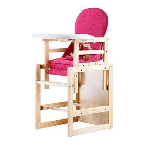 en Bois Pliable Chaise Haute bébé Ergonomique Chaise de Salle à Manger pour bébé Bébé Multi-Fonction Chaise de Repas, Poids de roulement 30kg