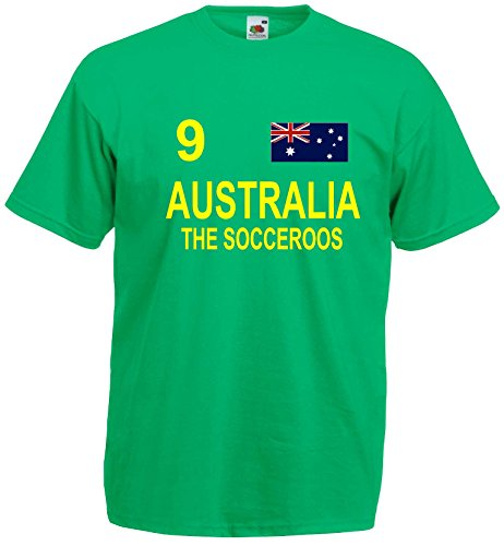 world-of-shirt Herren T-Shirt Australien The Socceroos im Trikot Look