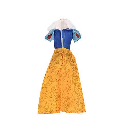 NICETOURNE 1 Stück Babykleidung Prinzessin Spielzeug Custome Schneewittchen Kleid Kleidung für Barbie-Puppe Mädchen-Geburtstags-Geschenke