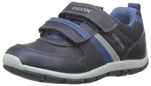 Geox B Shaax D, Scarpe da Ginnastica Basse Bimbo, Blu Dk Navy C4078, 25 EU