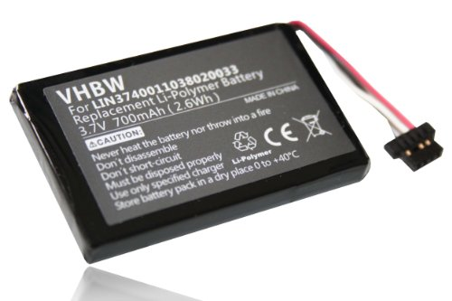 vhbw Li-Polymer Akku 700mAh (3.7V) für Navigation, GPS Navigon 20 Easy, 20 Plus wie LIN3740011038020033, LIN3740011049017698, LIN3740011049006022. 700 Gps-navigation