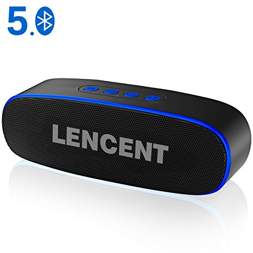 LENCENT Altavoz Bluetooth 5.0 Inalámbrico Portátiles Exterior, 360° Sonido Estéreo con Doble...