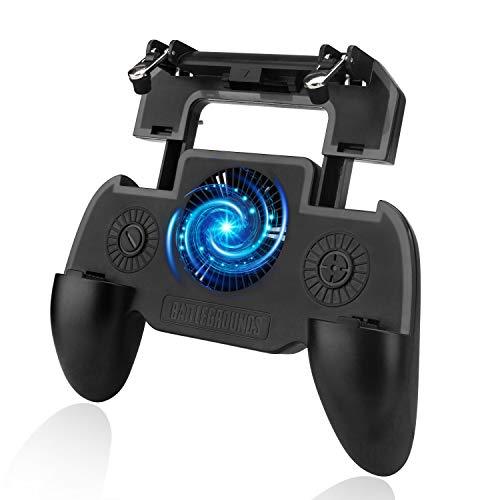 Game Controller PUBG Mobile Trigger Controller Kühler Gaming Trigger Handy Joystick Shooter Controller L1R1 mit Lüfter Radiator 2000 MAH Power Bank
