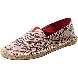 Dooxii Unisex Hombre Mujer Amantes Ocasionales Loafer Zapatos Moda Planos Alpargatas 42(26cm)