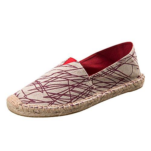 Dooxi Unisex-Erwachsene Liebhaber Freizeit Loafers Comfort Espadrilles Mode Slip on Flach Freizeitschuhe 42(26cm)
